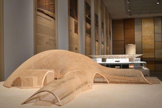 Bauen mit Holz Ausstellungsansicht
