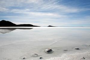 Der Salar de Uyuni, unweit der Quinoafelder. Bild: EZA