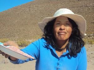 Gladys Caral Lopez, Quinoa-Bäuerin in Bolivien  Bild: Anapqui