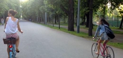 Lena auf dem Weg zur Donau.
