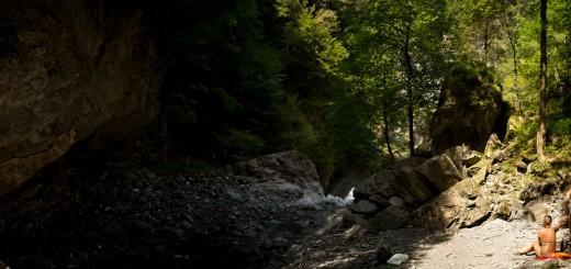 Flussbaden in der Frödisch