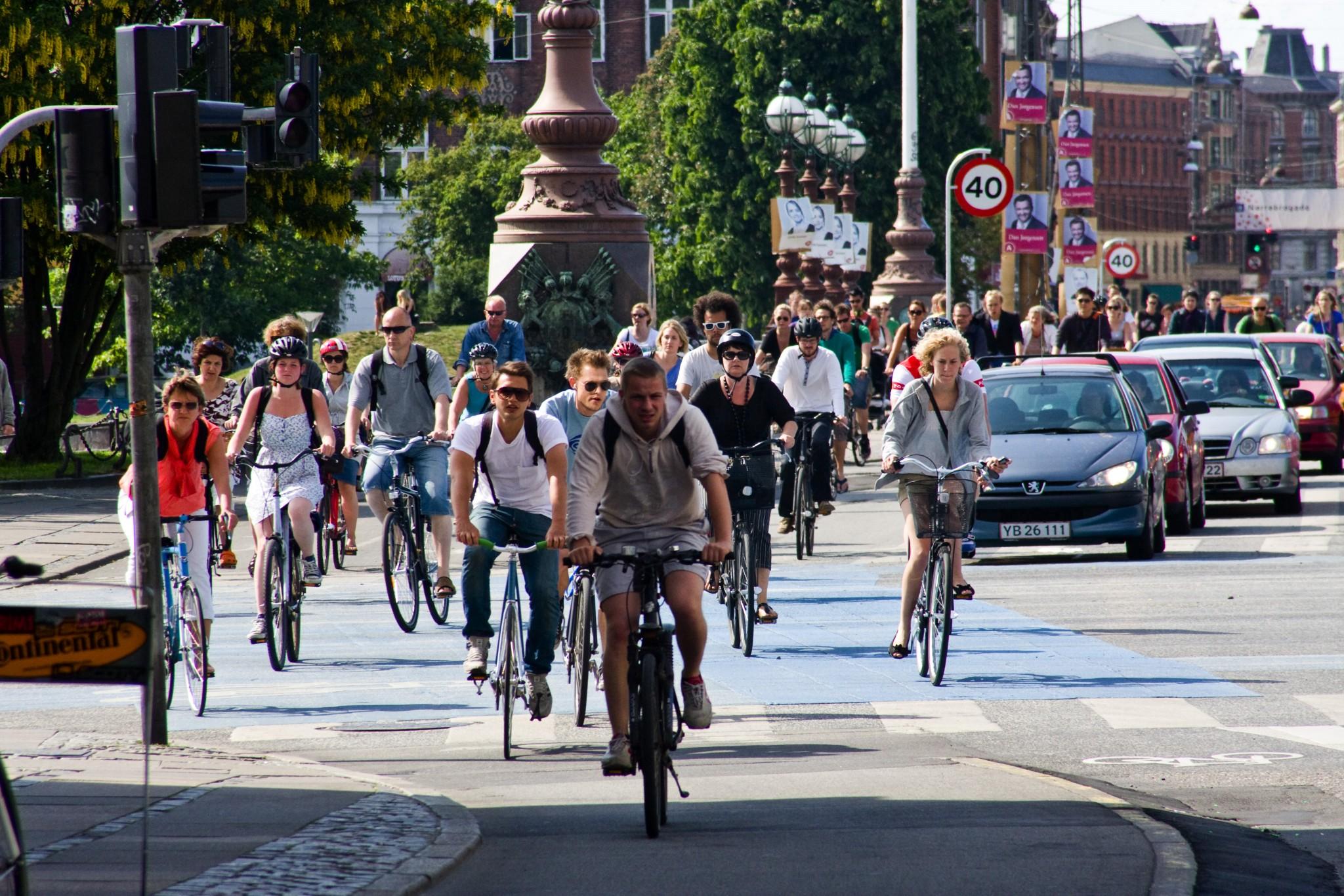 45 Prozent der Einwohner von Kopenhagen steigen täglich aufs Fahrrad. Da können sich andere Städte eine Scheibe abscheiden. (Bild: Copenhagenize Design Company)