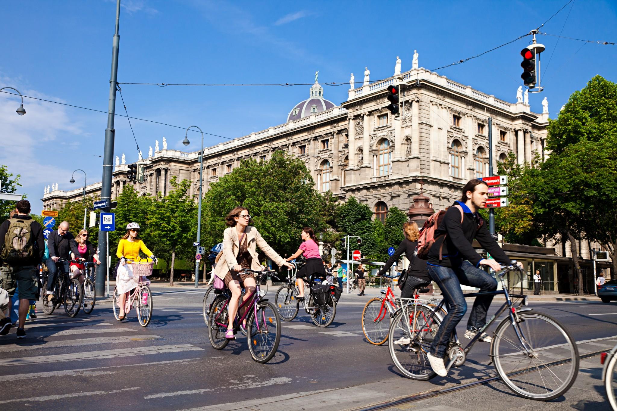 Wien war bereits 2011 auf dem 19. Platz im Index vertreten. 2013 rutschte es wieder aus den Top 20. Im aktuellen Index feiert Wien das Comeback auf dem 16. Platz. (Bild: Fahrrad Wien. Peter Provaznik)