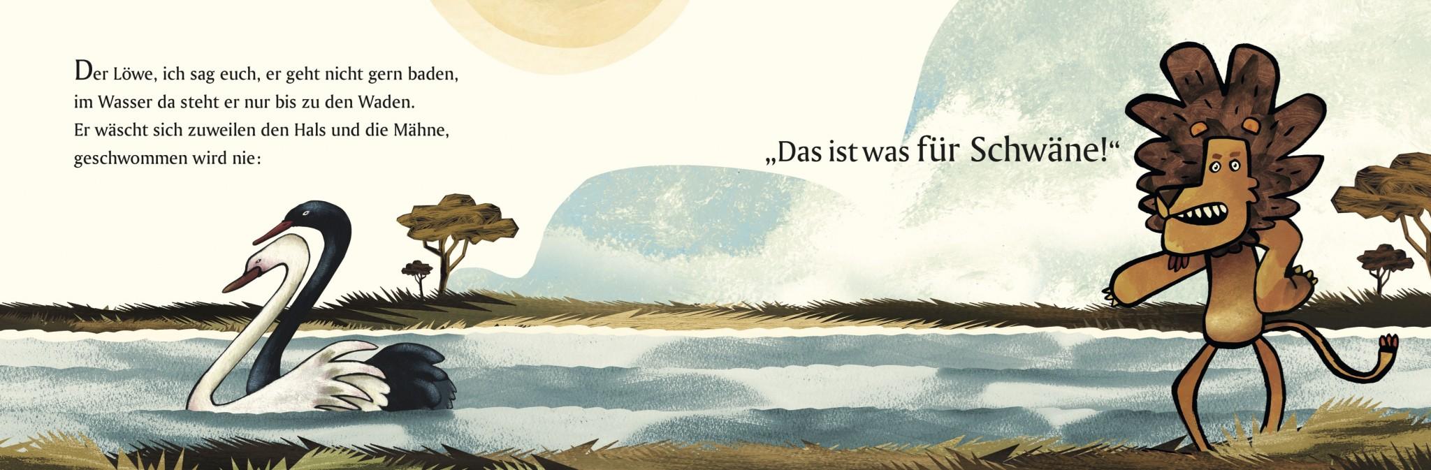 Martin Baltscheit, Die Geschichte vom Löwen, der nicht schwimmen konnte © 2016 Beltz & Gelberg in der Verlagsgruppe Beltz ∙ Weinheim Basel