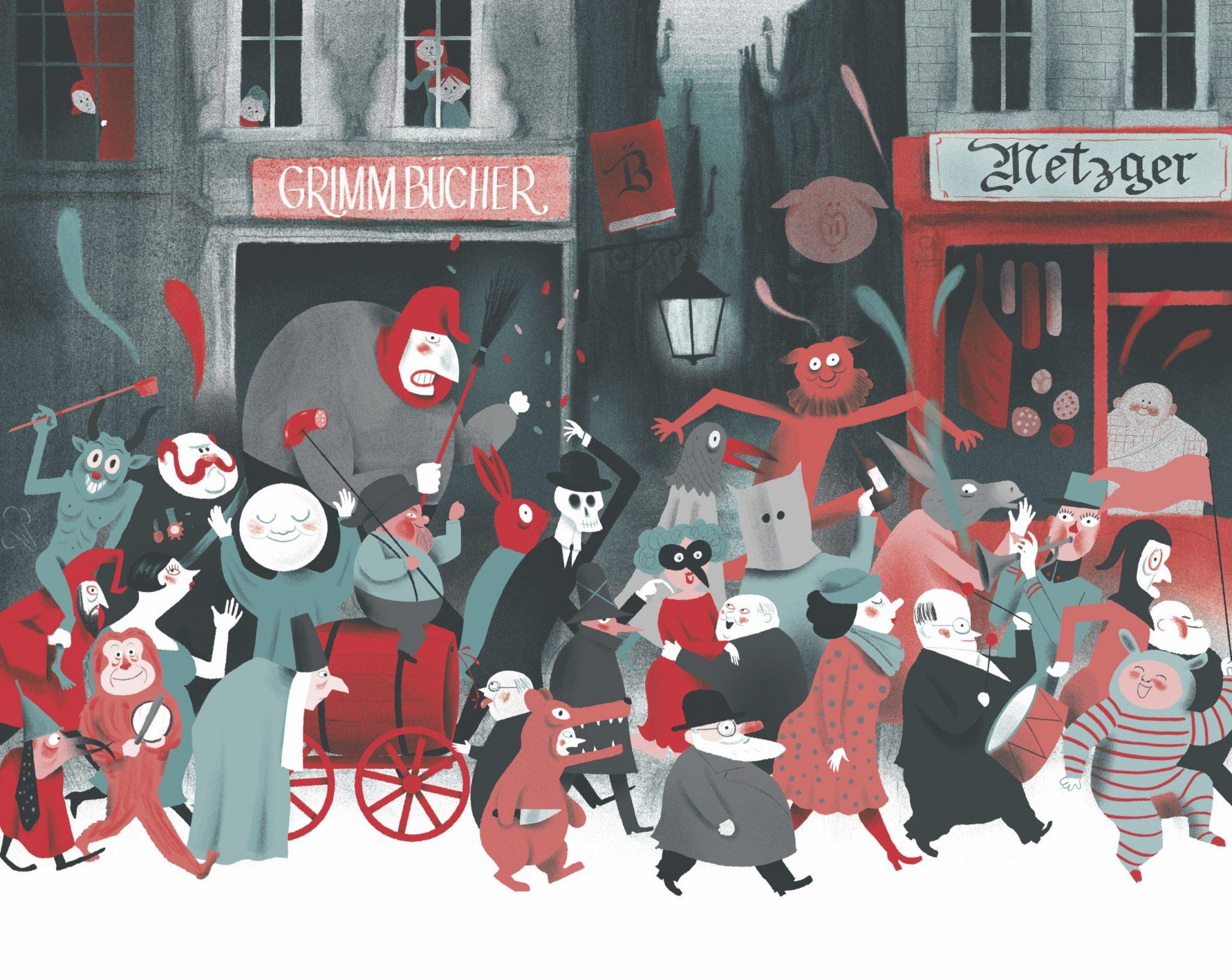 Illustration von Thomas Baas, aus Der Rattenfänger von Hameln, © Kleine Gestalten 2016