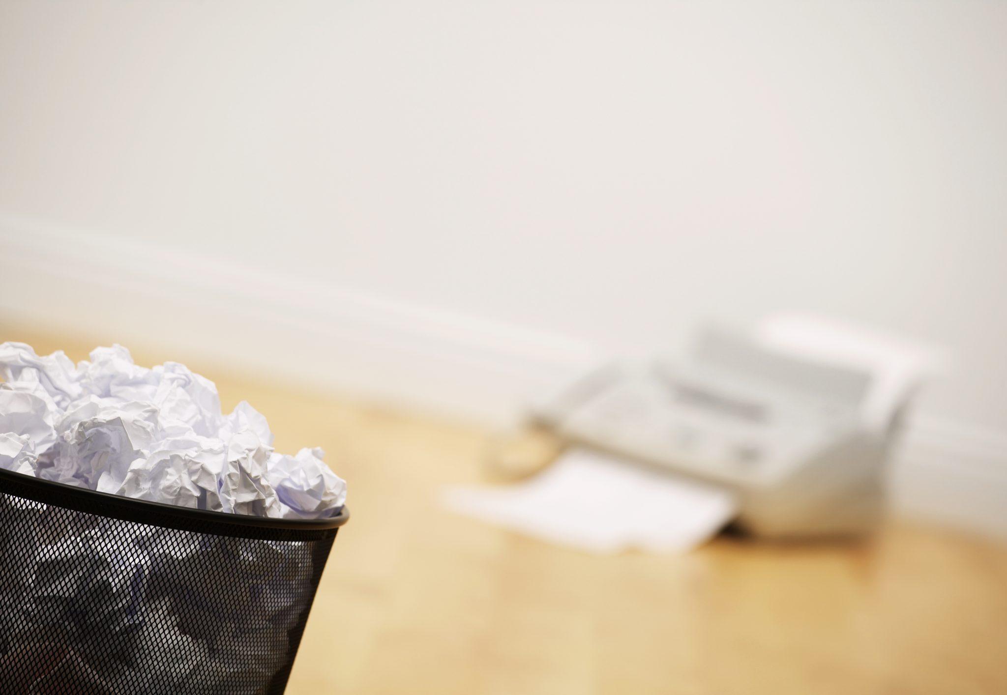 Papier Verschwendung Drucker